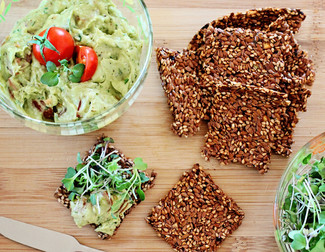 Flaxseed & Za'atar Crackers