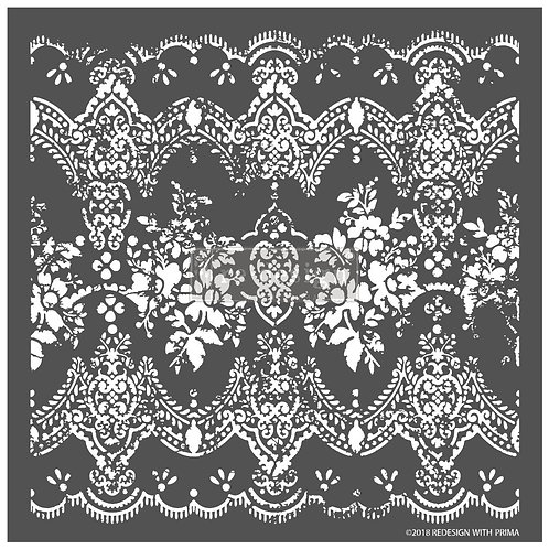 Distressed lace 3d stencil