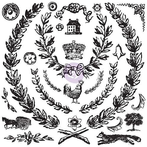 "IOD Decor Stamps - ""Grain Wreath"""