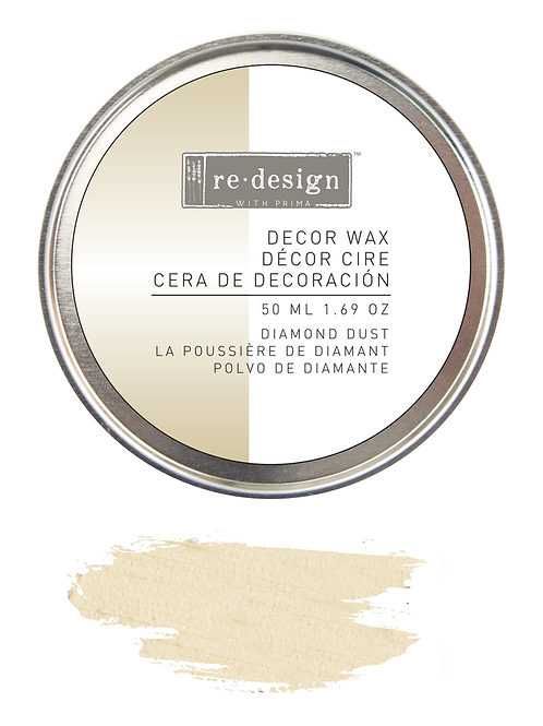 Diamond dust decor wax