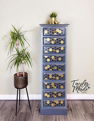 Bee themed tall drawers