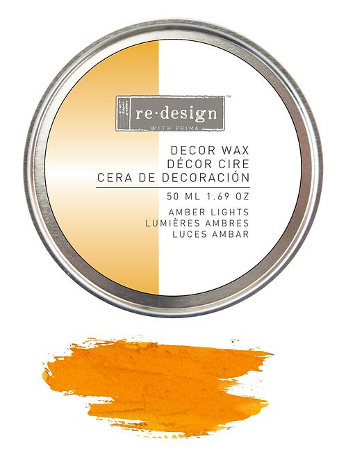 Amber lights decor wax