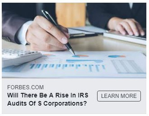 The Heat is on at the IRS - Increasing Audits of S Corporations.