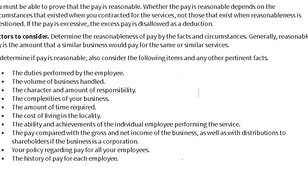 How to Calculate Reasonable Compensation