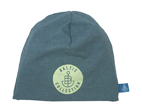 "Beanie ""Glow in the Dark"" Blau/Grün meliert"