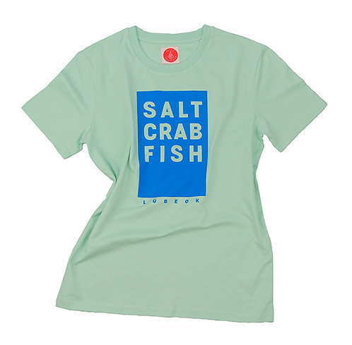 "T-Shirt Unisex ""Salt Crab Fish"", Mint"