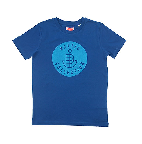 "T-Shirt KIDS Unisex ""Logo Cyan"" Classic Blue"