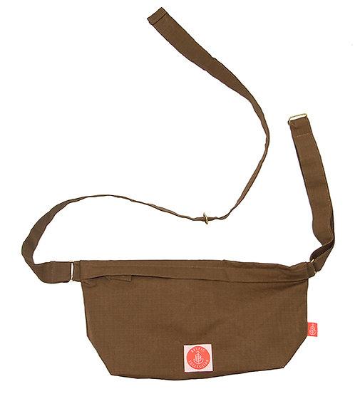 """Organic Cotton Shoulder-Bag """"Hip&Shoulder"""" Schlamm"""
