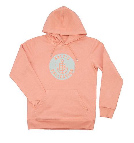 """Hoodie unisex """"Vintage Neon Orange"""" Peach, Limited Summer Edition"""