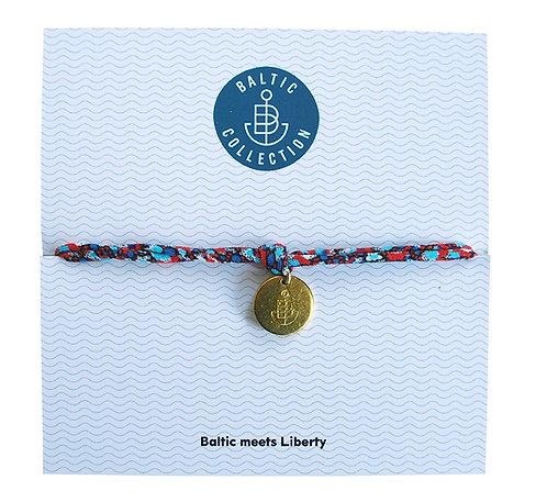 """Armband """"Liberty rot/türkis"""" aus Jersey"""