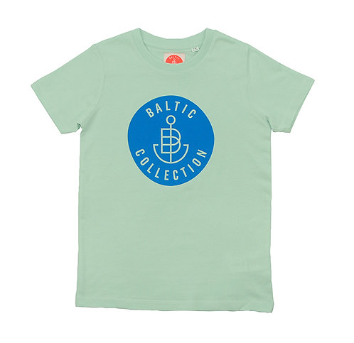 "T-Shirt KIDS Unisex ""Logo Cyan"" Pistazie"