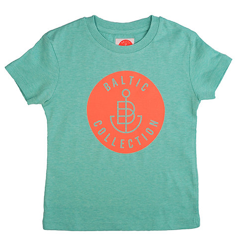 "T-Shirt KIDS Boy ""Logo neon orange"" Mint meliert"