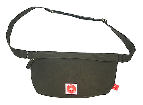 """Organic Cotton Shoulder-Bag """"Hip&Shoulder"""" Oliv"""