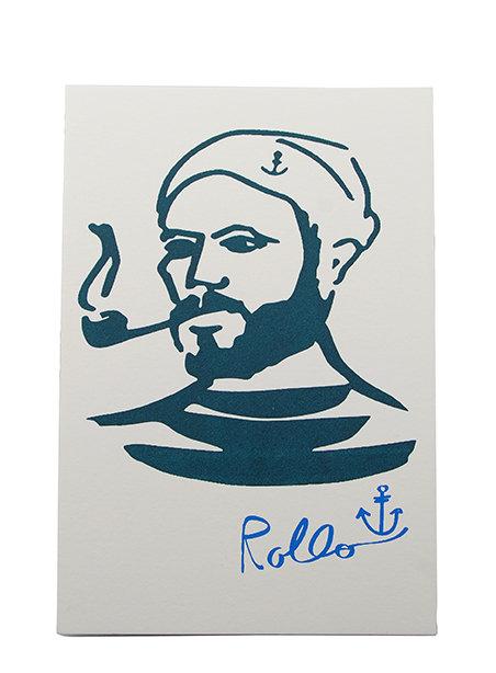 "Postkarte ""Rollo"", Baumwollpapier"