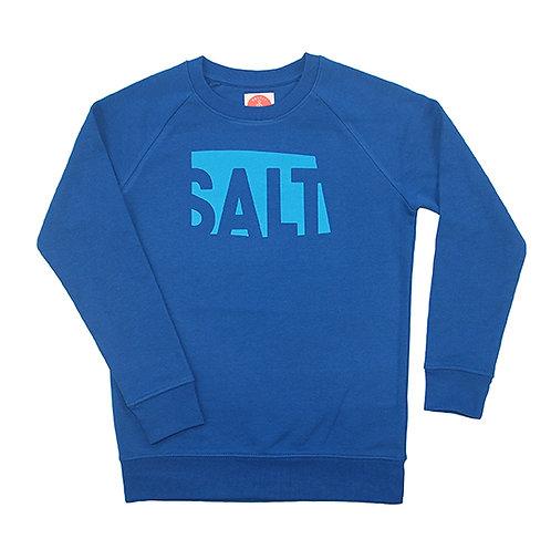 "Sweatshirt KIDS unisex ""SALT"" Classic Blue"