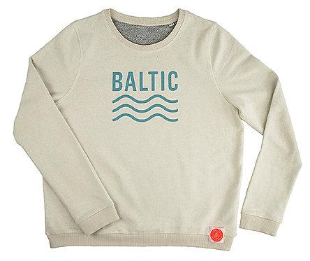 "Sweatshirt woman ""Baltic blau/grau"" Vanille"
