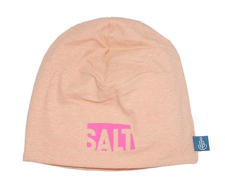 """Beanie """"SALT neon pink"""" Streifen blush/peach"""