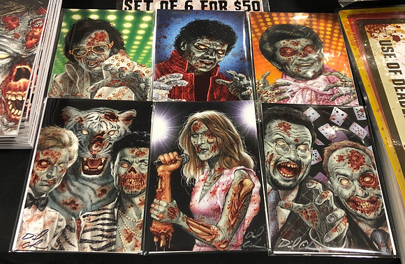"""Signed 5 x 7"""" prints from Zombies: Vegas"""
