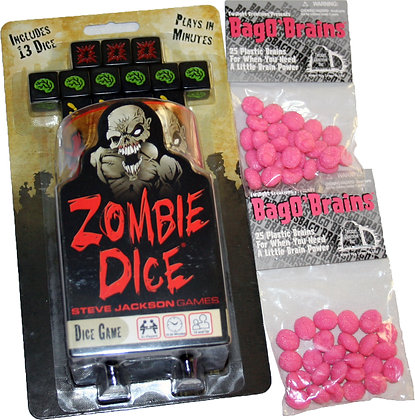 Zombie Dice Plus Bag Of Brains
