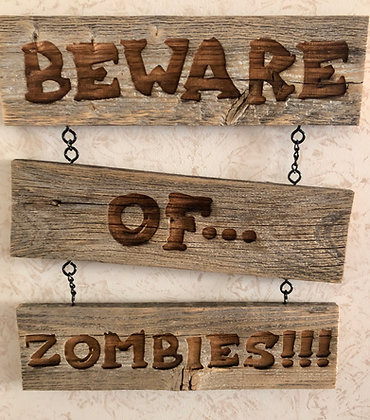 Reclaimed Wood Horror Signs
