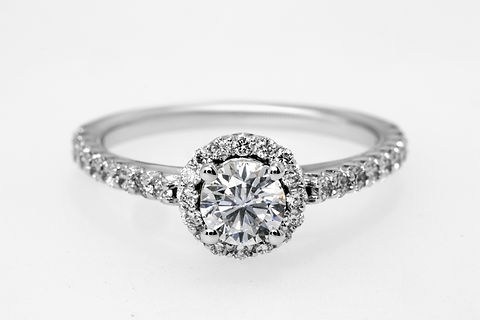 Wedding ring for bride and groom on wedd
