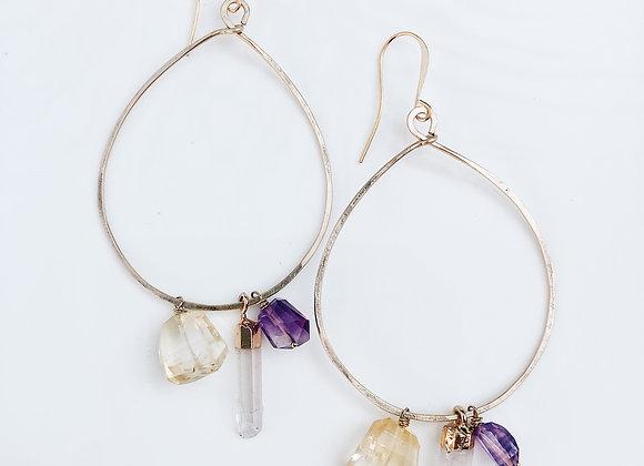 Petals Hoop Earrings