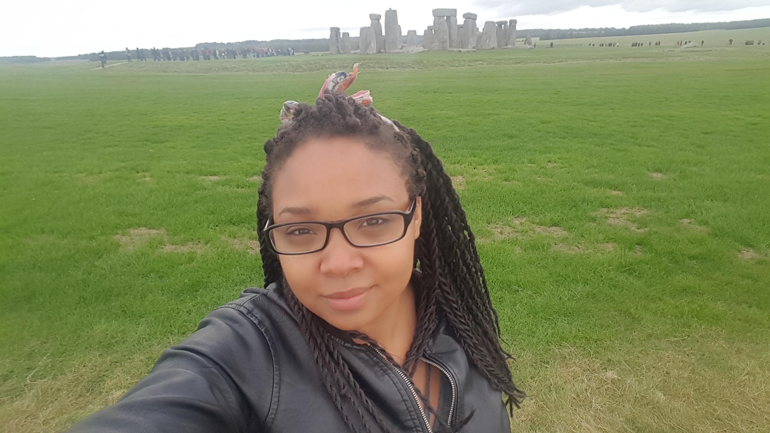 Lexi at Stonehenge