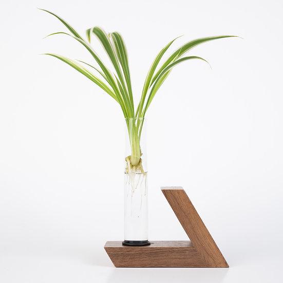 Herba Walnut wood plant holder test tube vase