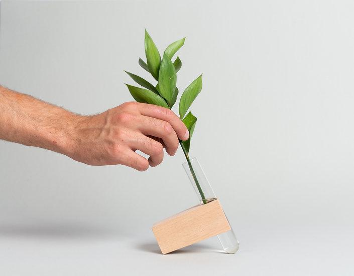 Beech Wood Brick Propagation vase