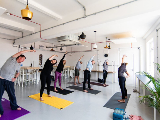 Take your Yoga mat to work day @ The coffee Lab Southampton