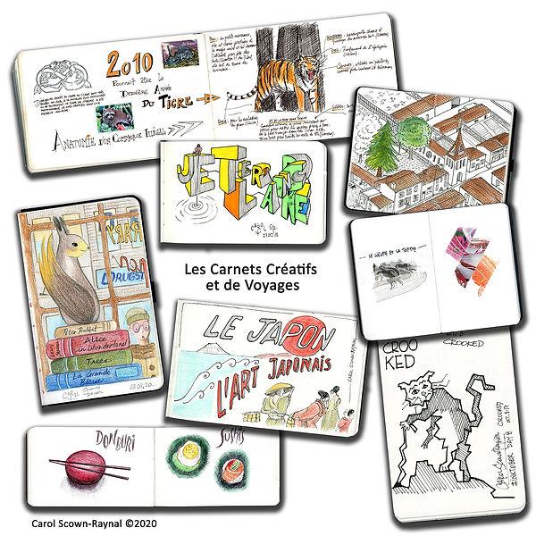 Les Carnets Creatifs et de Voyages web.j