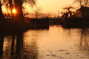 Coucher de soleil à Moissac