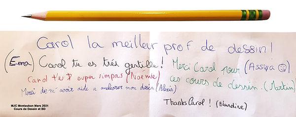 Eleves de la MJC Montauban a Carol Mot d