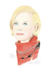 Portrait crayons de couleur