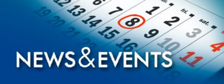 news and events logo with calendar in the background.