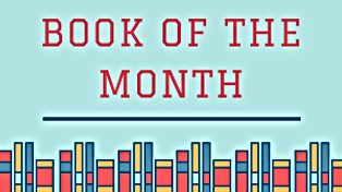 Book of the Month logo with a line of books