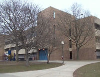 Front of PS153 building in the Bronx