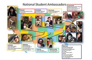 Student Ambassador Map of participants.