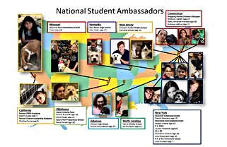 Student Ambassador Map of participants.