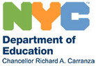 NYCDOE Logo and Chancellor Name