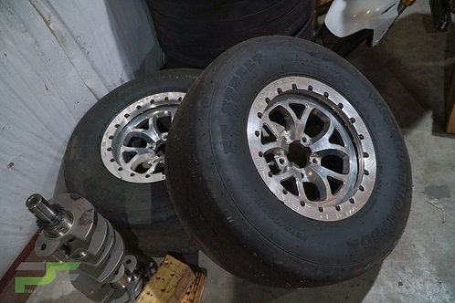 15x10 Weld Racing S76 Beadlock Rear Wheels - Polished