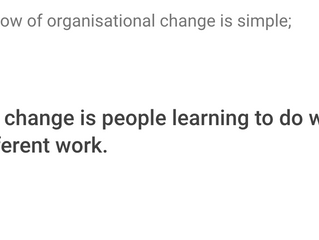 How to lead organisational change