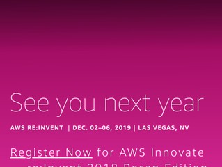 Let's move to the cloud! - AWS re:invent 2019