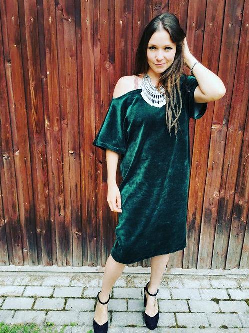 Medvilnės aksomo suknelė