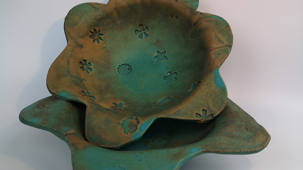 2 Turquoise Bowls