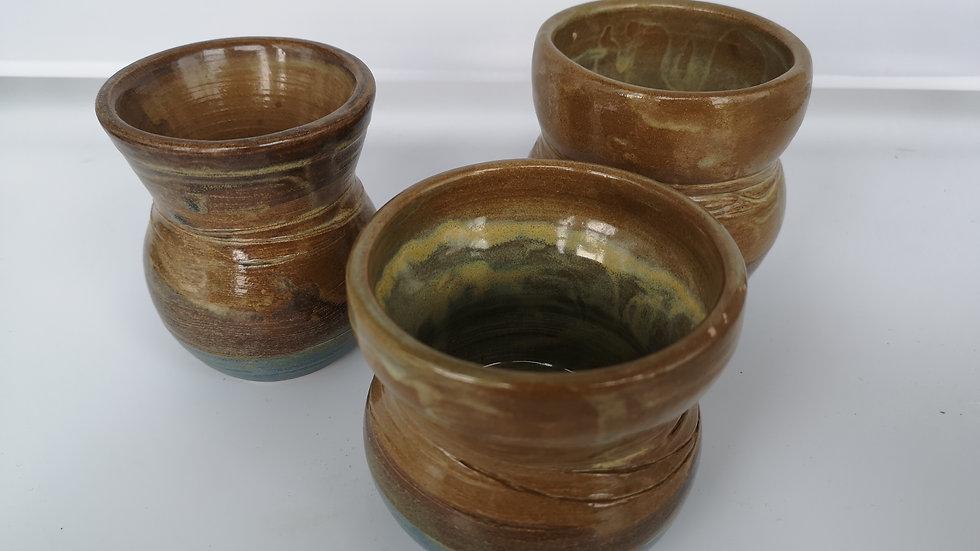 3 Rustic Cups