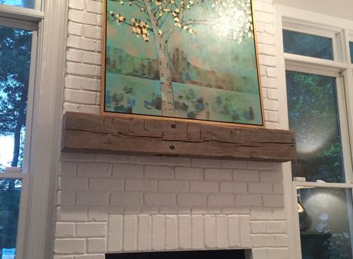 My Updated Fireplace & Reclaimed Wood Mantel