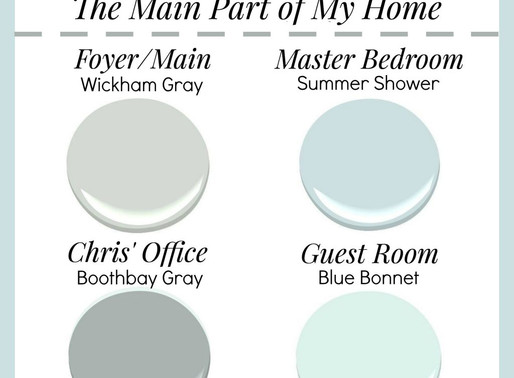 Paint Palette for Our New Home