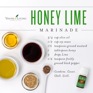 Honey Lime Marinade with Lime Essential Oil