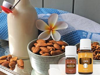 Cashew Milk Recipe with Cinnamon and Orange Essential Oil